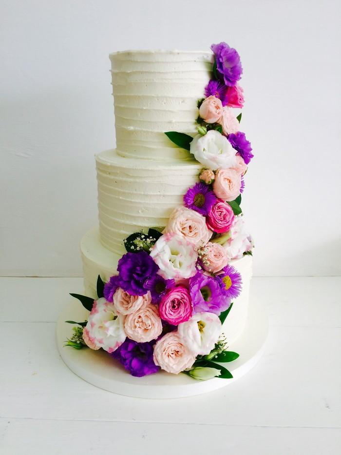 Торт Цветочная Нежность 3 - фото