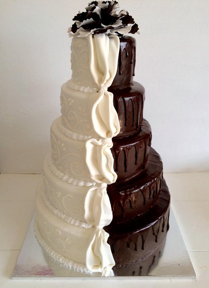 Торт Білий- Чорний Шоколад - фото