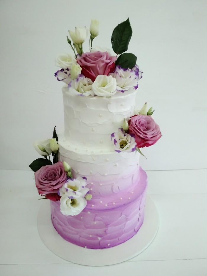 Торт Цветочная Нежность - фото