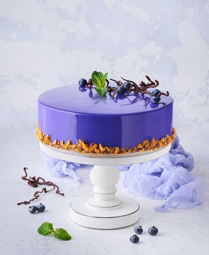 Торт Шоколадно-Чорничний - фото