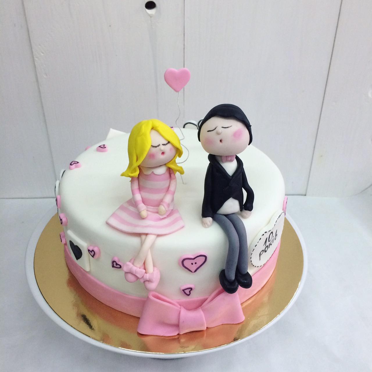 Торт Для Влюбленных 001 - фото