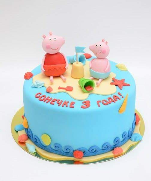 Торт Свинка Пеппа - фото