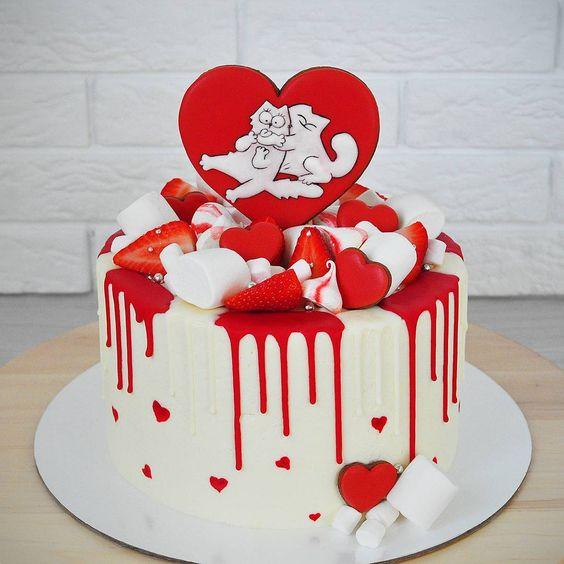 Торт Для Влюбленных 002 - фото