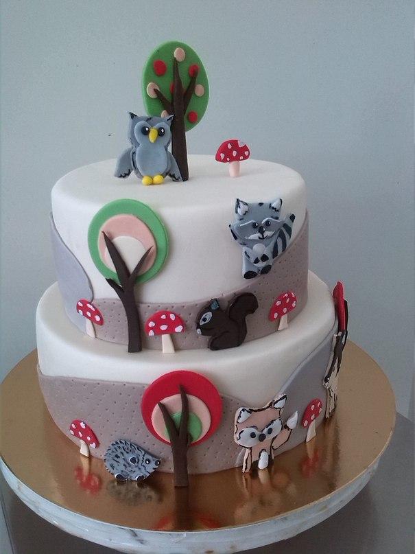 Торт Лесные Друзья - фото