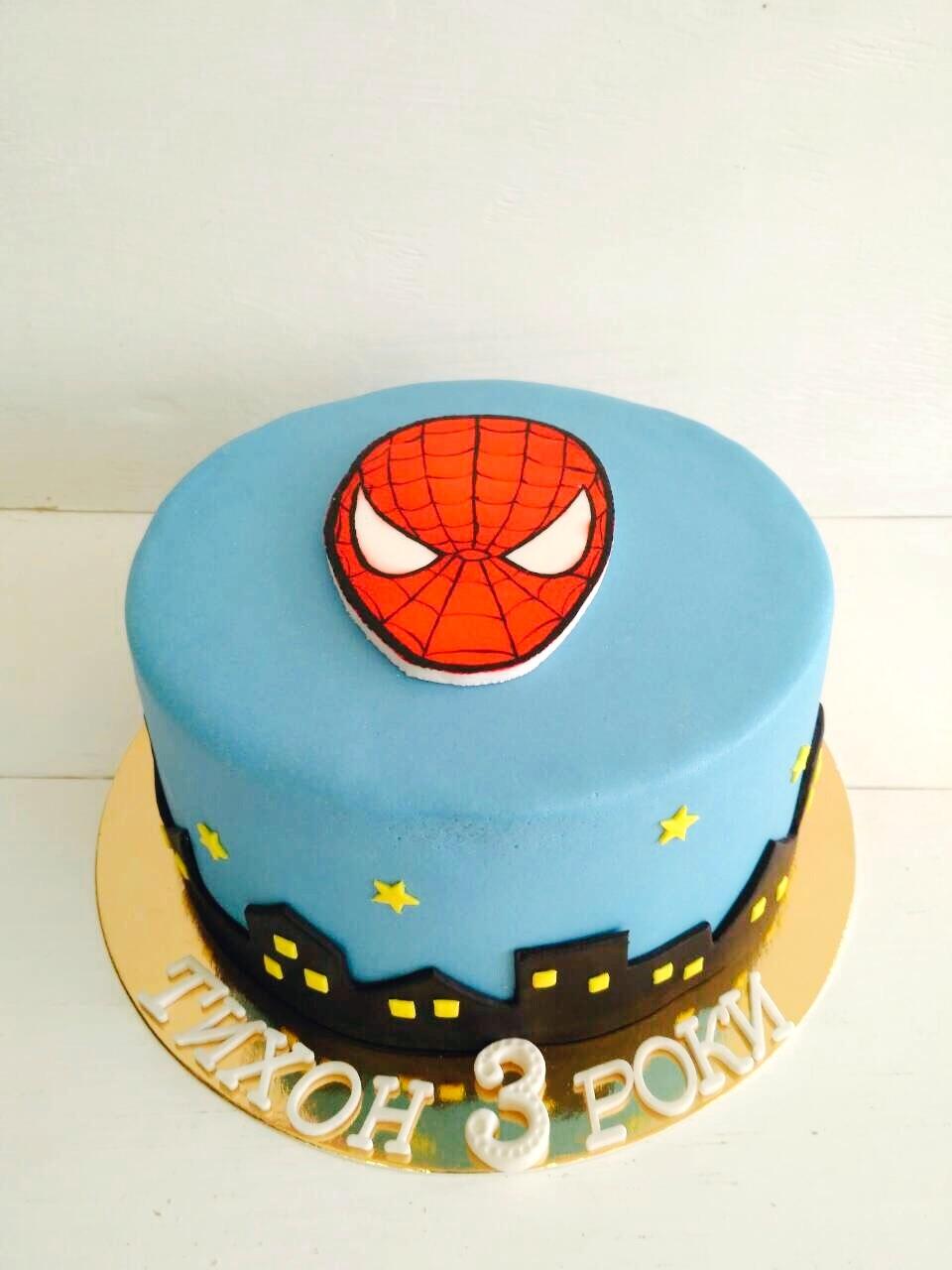 Торт Человек-Паук - фото