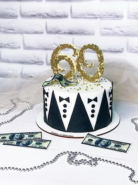 Торт Золоті 60 - фото
