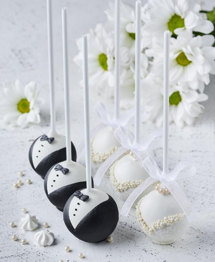 Кейкпопсы Свадебные - фото