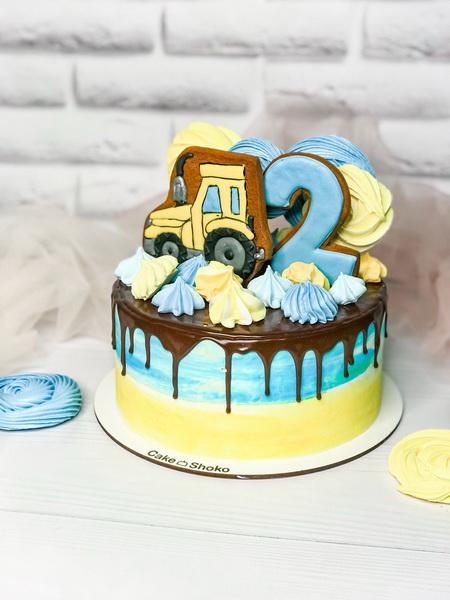 Торт Трактор - фото