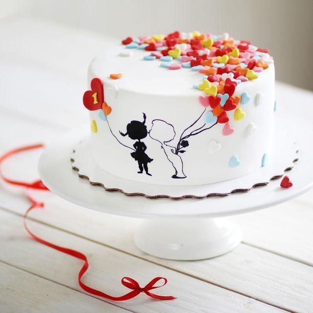 Торт для влюбленных 015 - фото