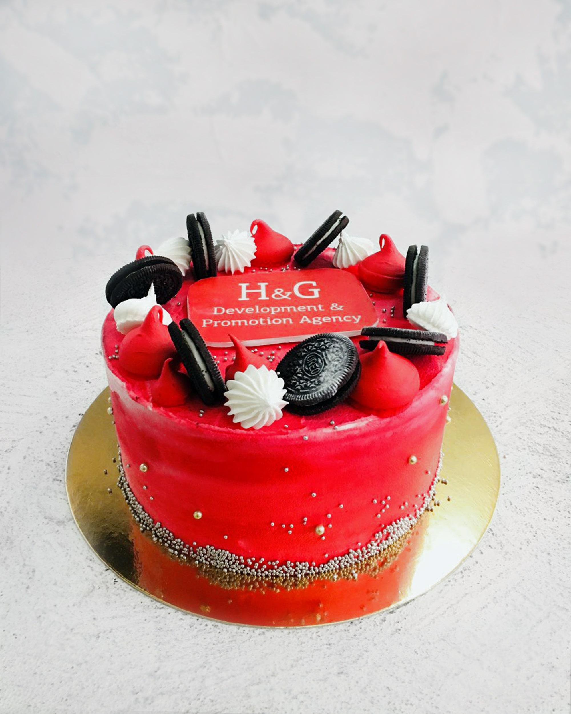 Корпоративный торт 004 - фото