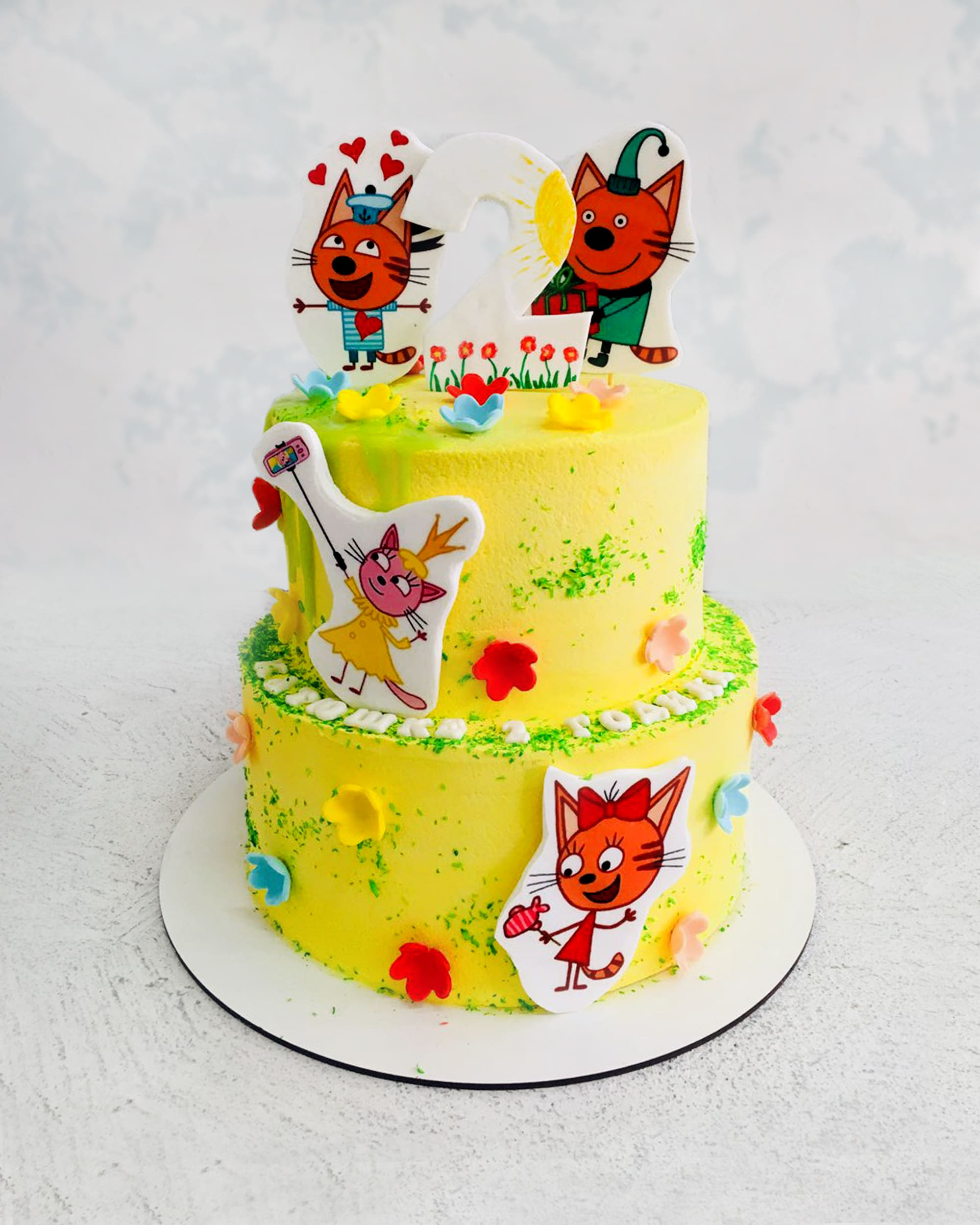 Торт Три кота - фото
