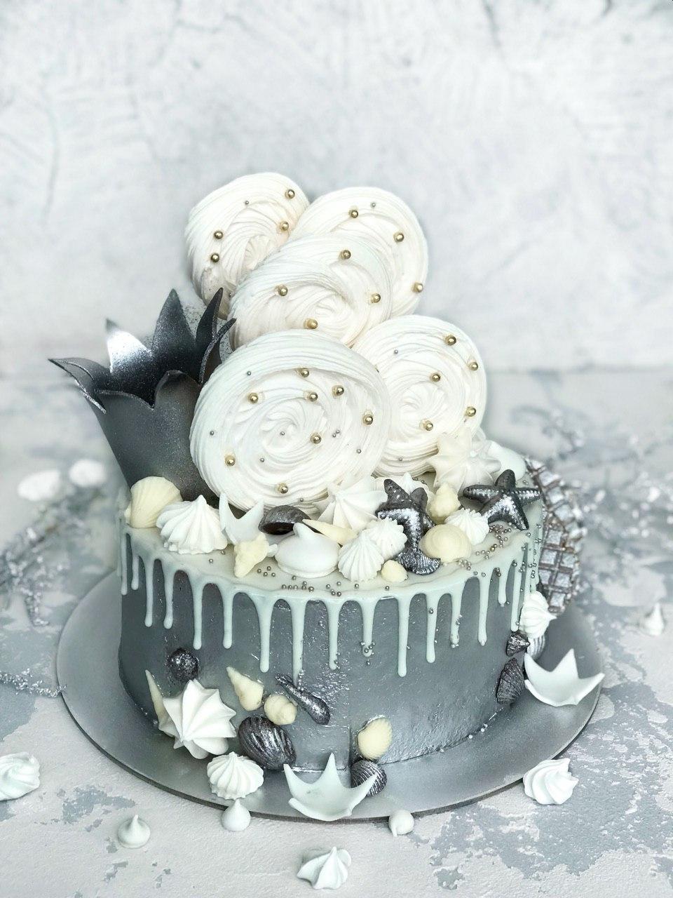 Торт Серебро - фото