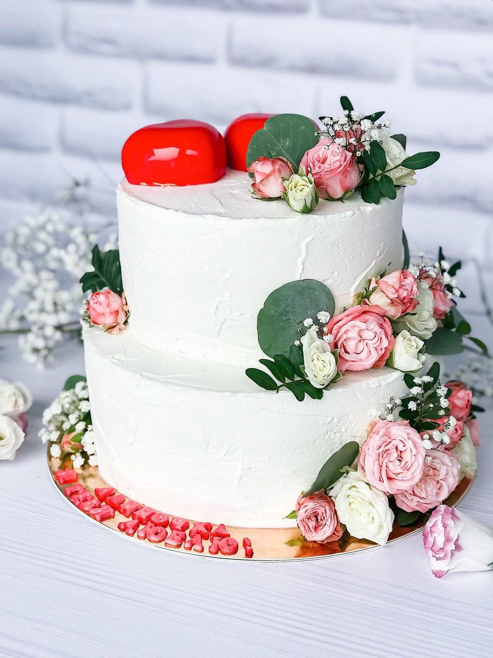 Торт Сердца - фото