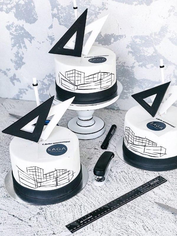 Корпоративный торт 001 - фото