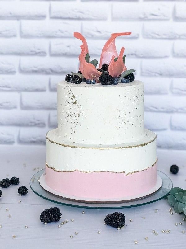 Торт Свадебная корона - фото