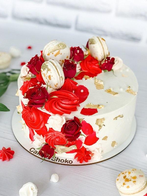 Торт яркий - фото