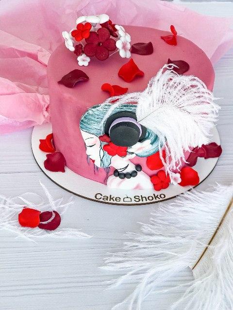 Торт Дама в шляпе - фото