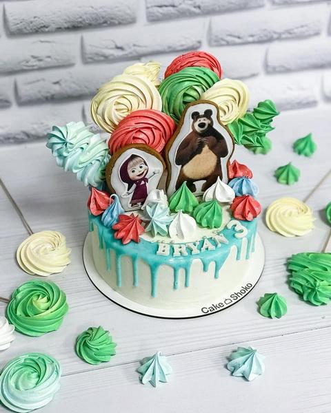 Торт Маша и медведь - фото