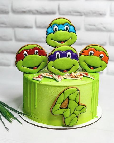 Торт  Черепашки ниндзя - фото