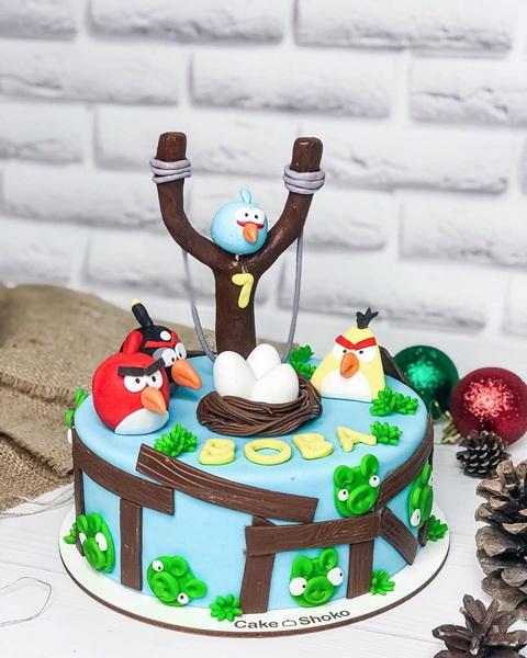 Торт энгри бердс - фото