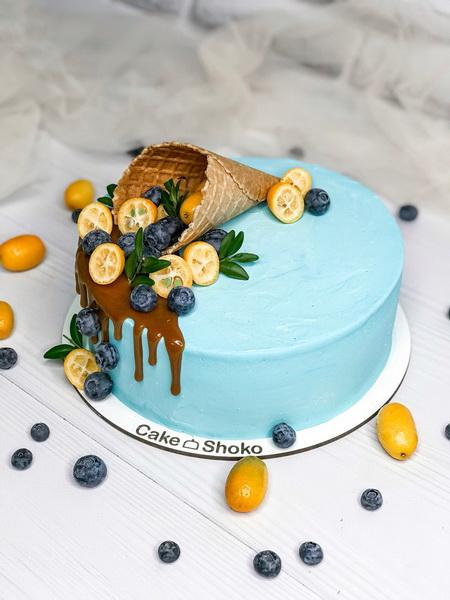 Торт ягодный рожок - фото