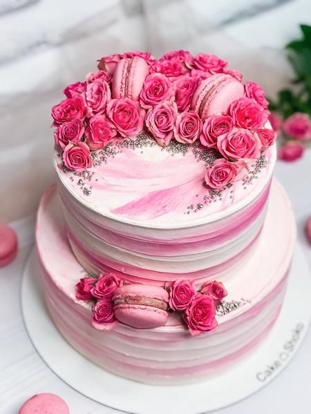 Торт розовая нежность - фото