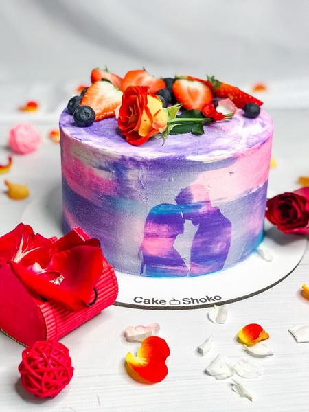 Торт Дві половинки - фото