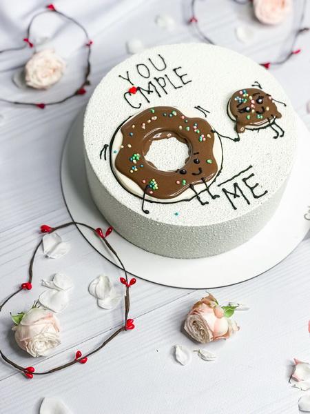 Торт Ты дополняешь меня - фото
