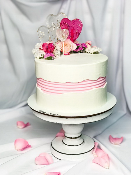 Торт святкові серця - фото