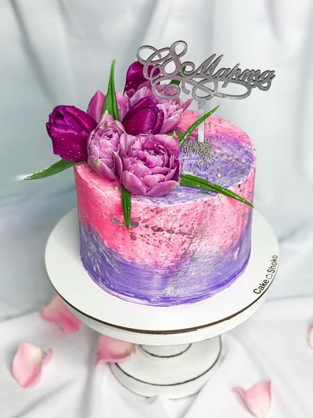 Торт Тюльпаны - фото