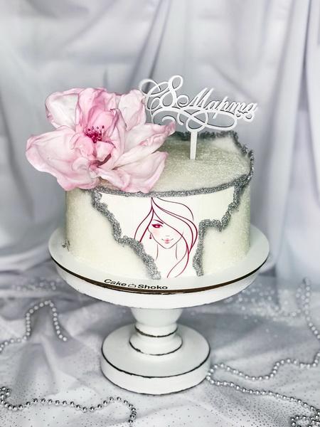 Торт цукрова дівчинка - фото