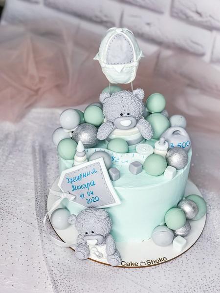 Торт Ведмедик з кулькою - фото
