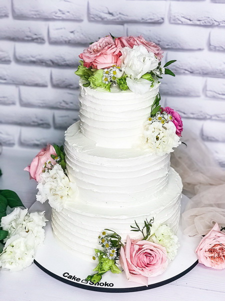 Торт Цветочное поле 3 - фото
