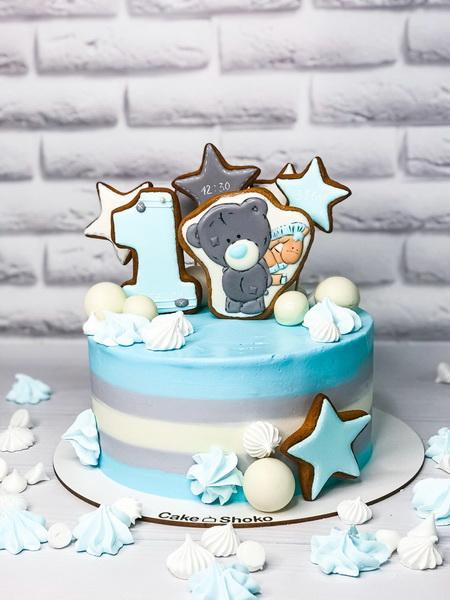 Торт Мишка в звездах - фото