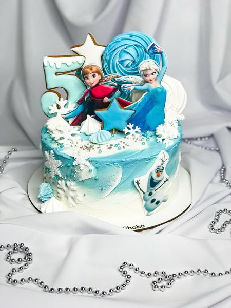 Торт Анна и Эльза 2 - фото