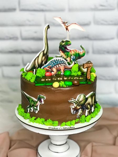 Торт Динозавры - фото