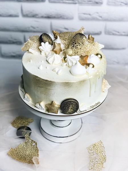 Торт Біло-золотий 2 - фото