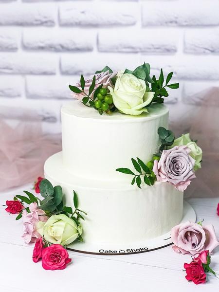 Торт Цветочная нежность 2 - фото