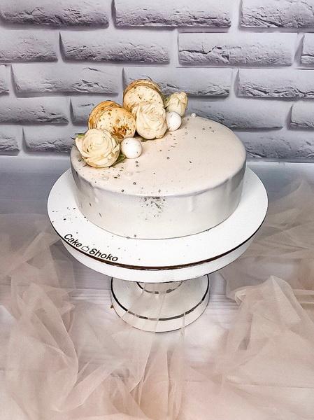 Торт Бежевый - фото