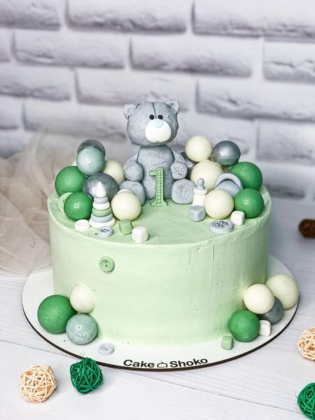 Торт медведь с шариками 2 - фото