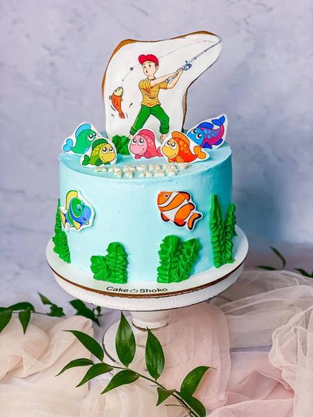Торт Рыбак - фото