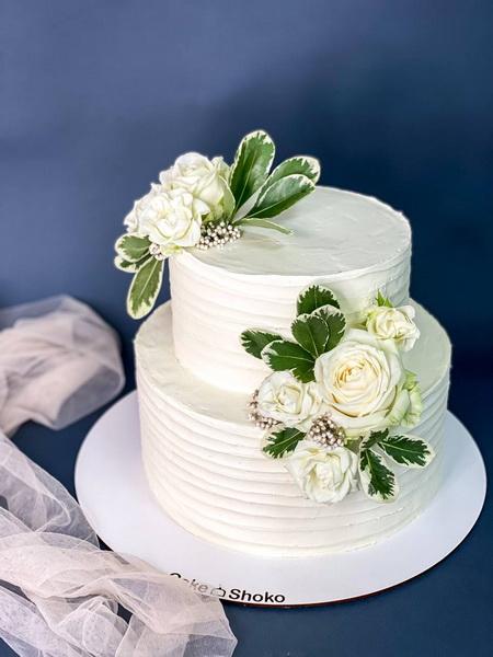 Торт Біло-зелений - фото