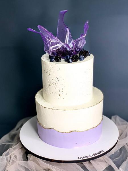 Торт Лавандовая корона - фото