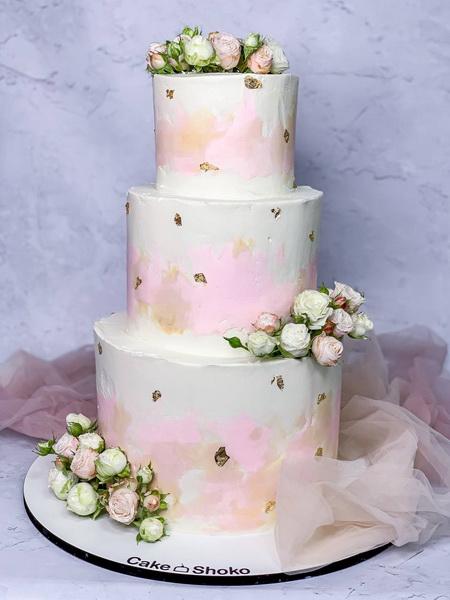 Торт Бело-розовая нежность - фото